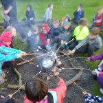 Toasting marshmallows at Residential