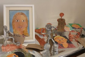Year 5 and Year 6 made sculpture and self portraits.