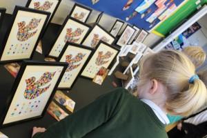 Reception children made a joint piece of art.