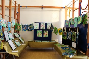 Year 3 and Year 4 made rainforest inspired art.