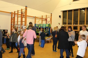 We had lots of people at our opening night and again during the day to view our amazing art.