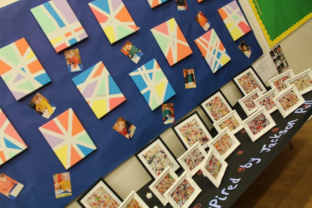 Children in Reception who are 4 and 5 made this amazing art!