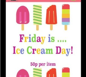 Ice Cream Fridays Poster 2018