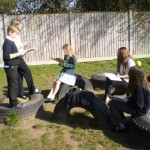 Guided reading outside - for performance.