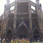 Westminster Abbey after our tour.