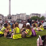 Trafalgar Square for lunch listening to Jazz and looking at the street performers.